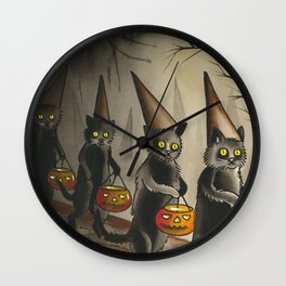 Halloween Cats Wall Clock