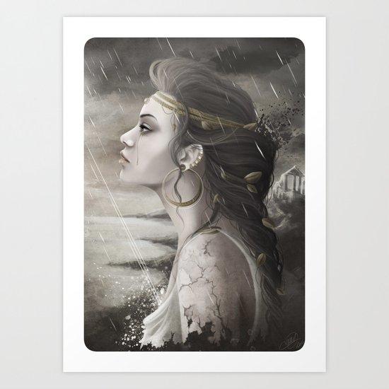 Golden Tear Art Print