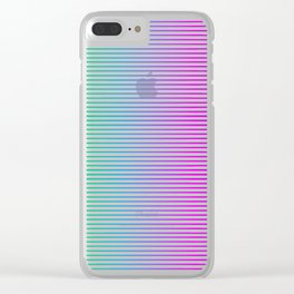 Neon Striping Version 1 Clear iPhone Case