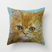 van gogh Throw Pillows featuring Van Gogh by Michael Creese