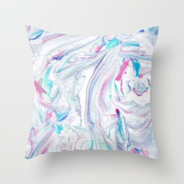 Pinks Blues Marble Throw Pillow