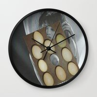 eggs Wall Clocks featuring eggs by anitaa