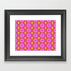 Flower Power Pattern Framed Art Print