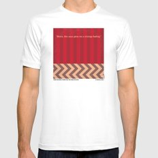 No169 My Twin Peaks minimal movie poster LARGE White Mens Fitted Tee