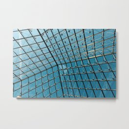 Abstract geometric glass roof Metal Print