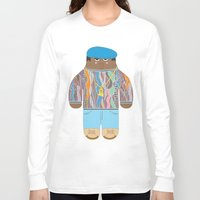 biggie Long Sleeve T-shirts featuring Biggie by Late Greats by Chen Reichert