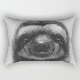 Sloth #1 (B&W) Rectangular Pillow