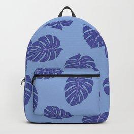 Monstera trendy - purple Backpack