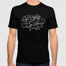 Go Blog or Go Home MEDIUM Black Mens Fitted Tee