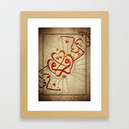 CALLIGRAPHY 01 Framed Art Print