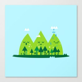 Monday Mountains Canvas Print