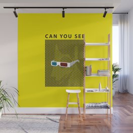 Can you see it? A 3d optical experience Wall Mural