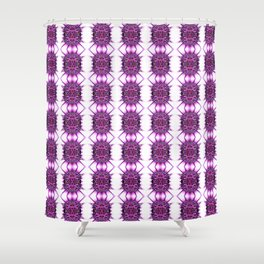 Purple Spiked Repeat Pattern Shower Curtain