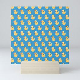 Rubber Ducky Duck Print Seamless Pattern Mini Art Print