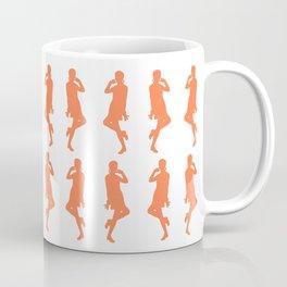 Coral Bold Mod GoGo Girls Coffee Mug
