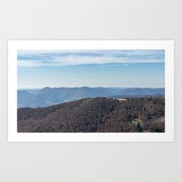 French mountain view Art Print