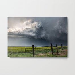 Harmony - Storm Cloud Over Southern Plains Metal Print