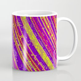 rhys - bright abstract design of hot pink grape purple and gold Coffee Mug