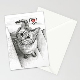 Cute Kitty Cat - Love Me Stationery Cards