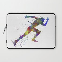 Man running sprinting jogging Laptop Sleeve