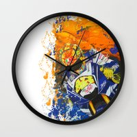 moto Wall Clocks featuring Moto Splash by Joshua Meno