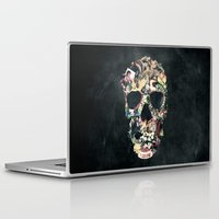ali Laptop & iPad Skins featuring Vintage Skull by Ali GULEC
