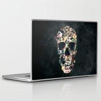 instagram Laptop & iPad Skins featuring Vintage Skull by Ali GULEC