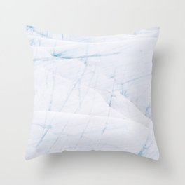 Bright and Minimalist Ice Textures from an Icelandic glacier Throw Pillow