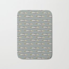 Anchovies Group Print Pattern Bath Mat