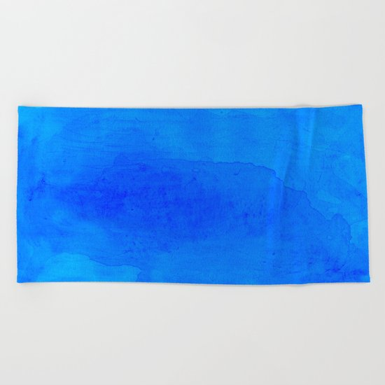 DARK BLUE WATERCOLOR BACKGROUND  Beach Towel