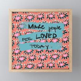 Feel the Love Framed Mini Art Print