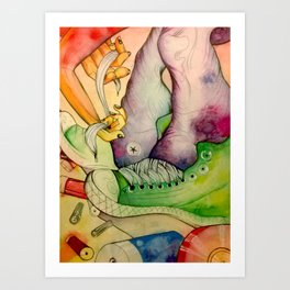 Untied Art Print