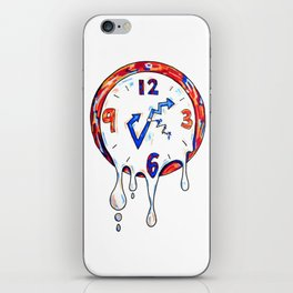 TIME IS MELTING iPhone Skin