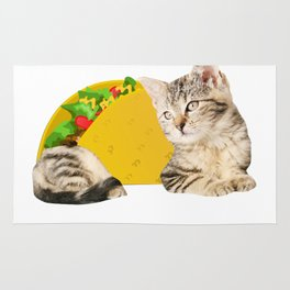 Taco Cat Gift Foodie Kitty Cat Funny Mexican Food Present Rug
