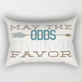 May the Odds Rectangular Pillow
