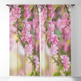 Spring Pink Blackout Curtain