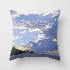 Varadero Beach Throw Pillow