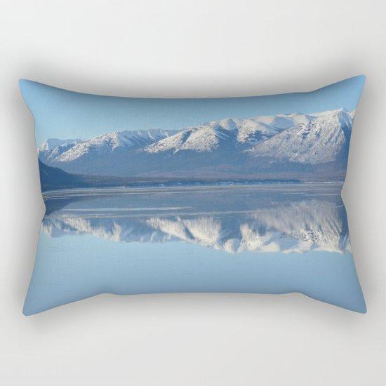 Turnagain Arm Mirror - Alaska Rectangular Pillow