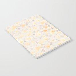 Floral watercolor orange pattern 2 Notebook