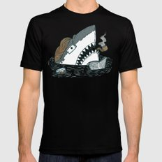 The Dad Shark 2X-LARGE Mens Fitted Tee Black