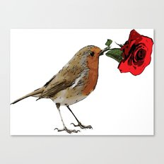 Bird & Rose Canvas Print