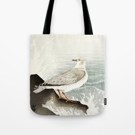 Seagulls at the beach - Vintage Japanese woodblock print Art Tote Bag