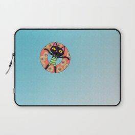 Black Cat Tubing at the Beach Laptop Sleeve