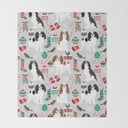 Cavalier King Charles Spaniel christmas pattern gift for dog lover pet friendly pet portrait Throw Blanket