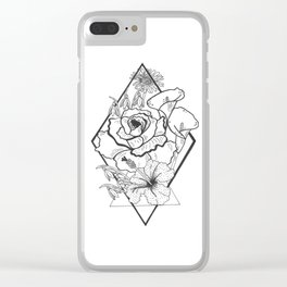 Tattoo Floral Clear iPhone Case