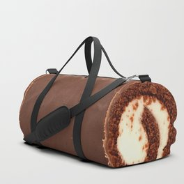 Sweet Chocolate Cream Roll // Ironic Junk Food Athletic Sports Gym Bag Designed by duffletrouble Duffle Bag