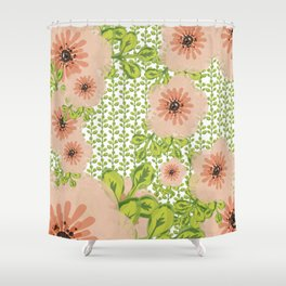 Flowers everywher Shower Curtain
