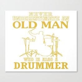 Old Man - A Drummer Canvas Print