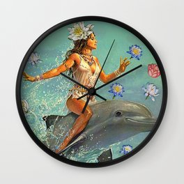 Freedom Lies in being Bold Wall Clock