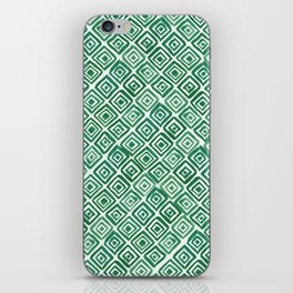 Watercolor Triangles (Green) iPhone Skin
